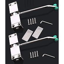 2 pieza Cierrapuertas, Cierre de puerta automático, Tensión ajustable, soporte hasta 60kg, viene con llave hexagonal y tornillos
