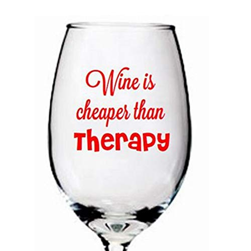 Atiehua Wandtattoos Funny Wine Glass Decal Label Aufkleber Für Barware Decoration 4Pcs / Pack Glas Nicht Enthalten Barware Gläser