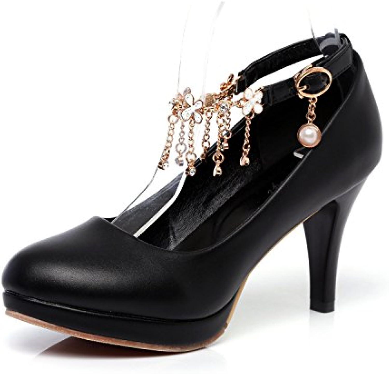 MEI&S Bloc de Femmes Talons Chaussures de Plate-Forme Peu BoucheB07D39753WParent Profonde BoucheB07D39753WParent Peu 7c24a4