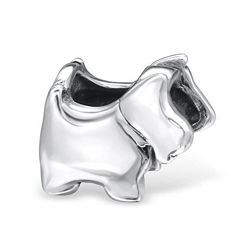 Passt Scotty - Hund Form Charm Bead-Passt Pandora Armbänder-925Sterling