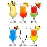 City Pina Colada bicchieri 460ml–Set di 6–Scatola regalo classico poco grande Hurricane vetreria