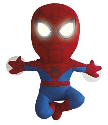 Worlds Apart 257SPR01E - Peluche de Spiderman con ojos luminosos (funciona con pilas AAA) de Worlds Apart