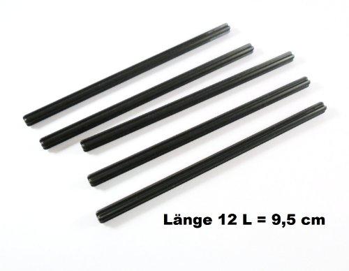 LEGO 5pieza Technic eje 12L en negro.
