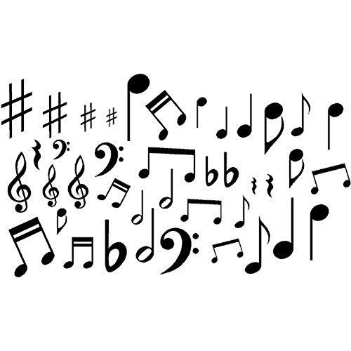 Dianhai306 Música Arte Pared Pegatinas Notas Musicales