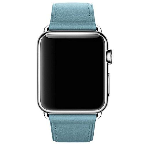Cinturino Apple Watch Series 1 Series 2,Gosuper®Classic Tour singola fascia del cuoio genuino bracciale per Apple Osservare 2015 e 2016 tutti i modelli