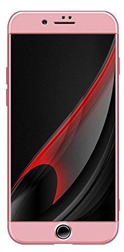 iPhone 7 Hülle, Ultra Thin Hybrid 360 ° Komplettschutz Shockproof Hard Back [Hybrid Hard PC] Voller Deckung Schutzhülle Cover Für Apple iPhone 7 + Free Display Schutz (iPhone 7, Black/Red) Rose Gold