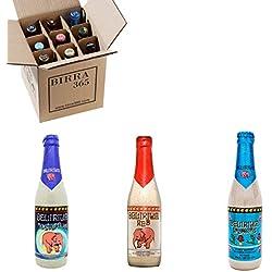 Caja selección de cerveza Delirium Tremens. Caja con 9 cervezas Delirium Tremens, la mejor cerveza del Mundo Beer World Idol 2018.