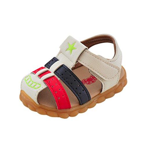 Dragon868 Baby Sandalen Jungen,Fashion Patchwork Sneaker Star Print Kinder Casual Sandalen Schuhe by (Alter:12M~EU:17, Weiß) (Print-knöchel-socken)