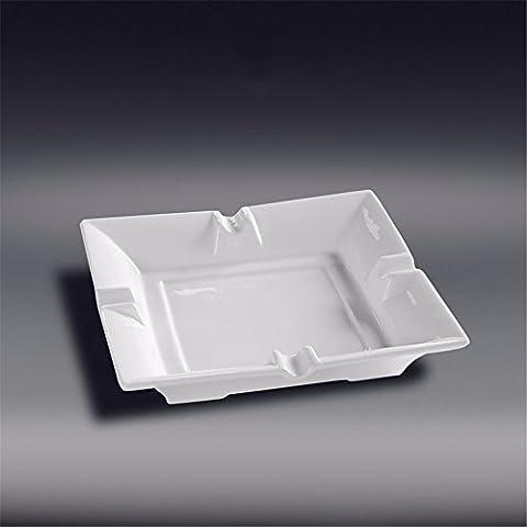 Quatre trous carrés en céramique blanc pur cendrier cendrier imprimer