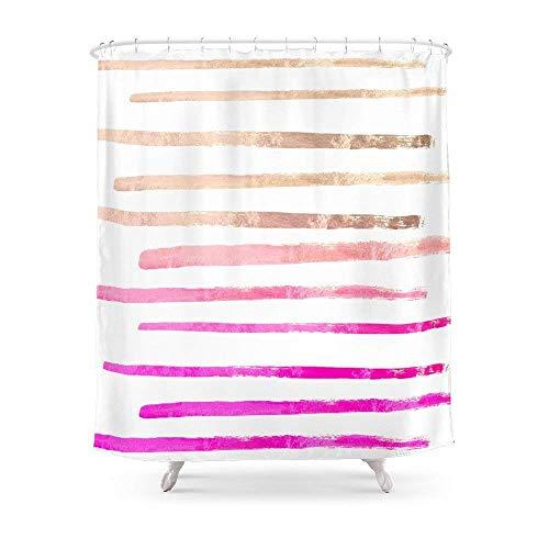 Suminla-Home Badezimmer Suri Rosa Vorhang für die Dusche 182,9cm von 182,9cm