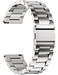 Fullmosa Quick Release Watch Strap, Stainless Steel Watch Band,22mm Silver