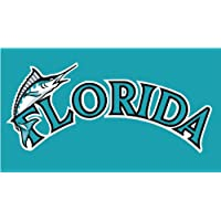 Florida Marlins Logo MLB Baseball De Haute Qualite Pare-Chocs Automobiles Autocollant 12 x 8 cm