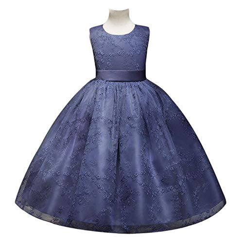 WTDlove Kinder Rock Mesh Tutu Blumenmädchen Hochzeitskleid Bestickt Prinzessin Kleid Geburtstag...