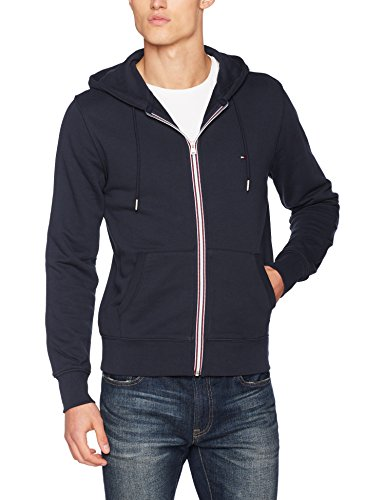 Tommy Hilfiger Herren Strickjacke Core Cotton Zip Hoodie, Blau (Sky Captain 403), X-Large (Hoodie Zip Strickjacke)