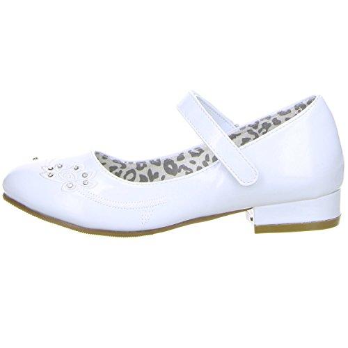 ConWay Mädchen Ballerinas Lackoptik weiß Weiß