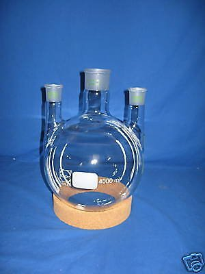 Three's Flask 4000ml 3x NS 29/32without Cork Ring Test