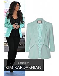 Ladies Celebrity Inspired Smart Fashionable Fitted Taylor Blazer (Mint) (12)