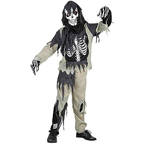 Jungen Mädchen Halloween Zombie Skelett Kostüm Alter 4-12 Jahre (Small