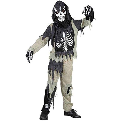 Jungen Mädchen Halloween Zombie Skelett Kostüm Alter 4-12 Jahre (Small (Age 4-6 Years), (Jungen Kostüme 2017)