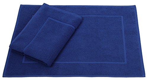 Betz 2er Pack Badvorleger Größe 50x70cm 100{b2681378f52b4467898db9c804b7adce937088ff2067cefd3268ab7390d5d37c} Baumwolle Badematte Badteppich Duschvorlage Premium Qualität 650 g/m² Farbe Royalblau