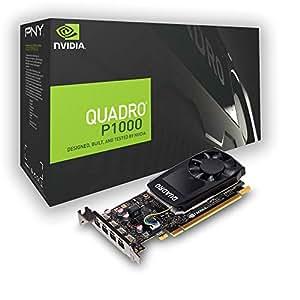 PNY nVidia Quadro P1000 Scheda Grafica da 4 GB, 640 Cuda Core, Nero