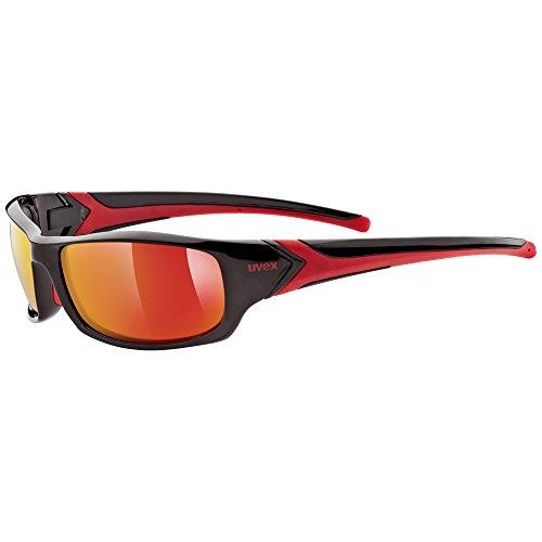 Uvex Sportstyle 211 - Gafas unisex, color negro / rojo