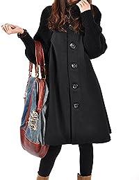 52c36e10aa6f Donna Lunga Cappotto di Lana Blended Invernale Giacca Cappotti A Maniche  Lunghe