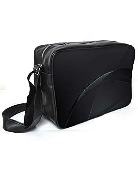 Snoogg Dark schwarz Farbe Design Leder Unisex Messenger Bag für College Schule täglichen Gebrauch Tasche Material PU