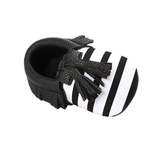 Nicetage Süß Mädchen Schuhe Laufternshuhe Krabbelschuhe für 0-18 Monate Baby Neugeborenen Schuhe Schwarz