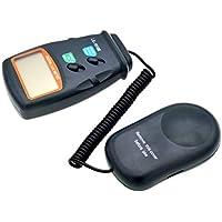 Hemobllo medidor de luz Probador 3 Rango LCD Digital 50,000 Lux Medidor Fotómetro Portátil de Mano Portátil (Sin batería)
