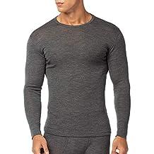 f0bf0b209 LAPASA Ropa Térmica para Hombre Pantalón Camiseta Conjunto de Lana Merino  M31