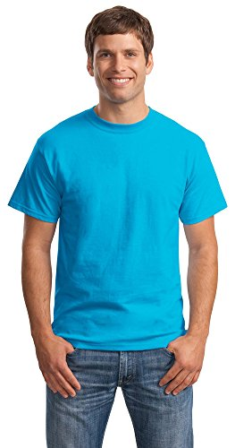 Hanes Mens Beefy-T Born to Be Worn 100% Cotton T-Shirt Teal