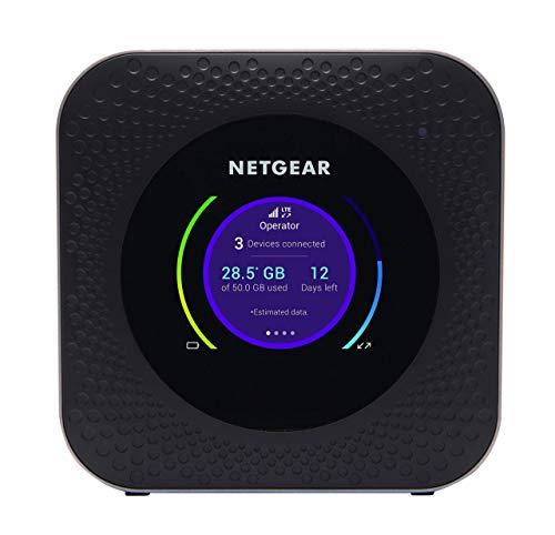 Netgear MR1100 Router 4G con Sim portatile, velocità 1Gbps fino a 20 dispositivi, durata batteria 24 ore, alternativa linea ADSL