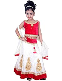 dd6497d481 Arshia Fashions Girls Lehenga Choli Dress for Kids - Velvet Net -  Embroidered - Partywear - Readymade - 3 - 8 Years