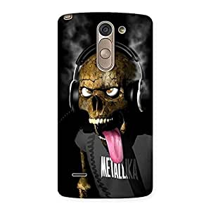 Gorgeous Metal Tounge Back Case Cover for LG G3 Stylus