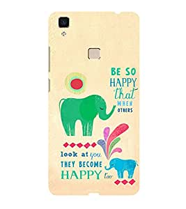 ifasho Designer Phone Back Case Cover Vivo V3 ( Gaay Cow Ma )