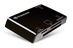 Transcend 15-in-1 Usb 2.0 Flash Memory Card Reader - Black