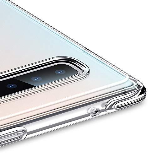 ESR Essential Guard Klare Hülle kompatibel mit Samsung Galaxy S10 Hülle - Weiche Flexible Silikon Handyhülle mit verstärkten Ecken - Leichte Kratzfeste Bumper Schutzhülle für Galaxy S10 - Klar