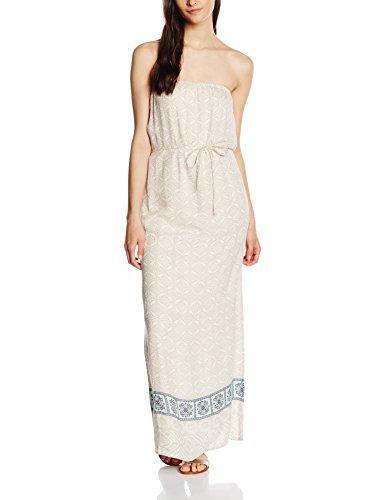 Vila Visteps Long Dress, Vestito Donna Avorio (Pristine)