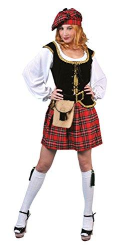 Schottland Kostüm Kinder - Karneval-Klamotten' Kostüm Schottin Loch Ness Dame Kostüm Karneval Schottland Damenkostüm Größe 44/46