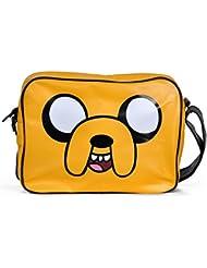 Bolsa de Adventure Time con motivo Jake bolso bandolera amarillo
