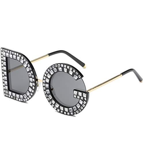 DG Diamond Persönlichkeit Brief Sonnenbrille Europa und Amerika Trend Sonnenbrillen