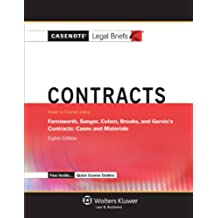 Casenote Legal Briefs for Contracts, Keyed to Farnsworth, Sanger, Cohen, Brooks, and Garvin (Casenote Legal Briefs Series)