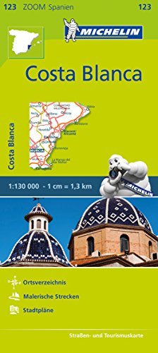 Michelin Costa Blanca: Straßen- und Tourismuskarte 1:130.000 (MICHELIN Zoomkarten, Band 123)