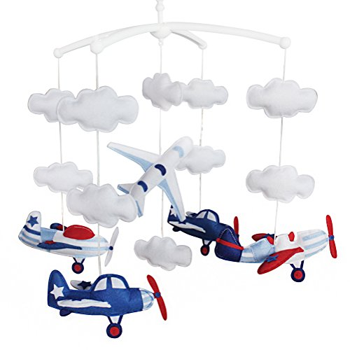 Baby Cloud Mobile, Musical Baby Mobile, Babybett Mobil, Flugzeug