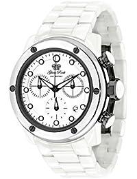 Glam Rock Aquarock Damen-Armbanduhr 42mm Armband Keramik Weiß + Gehäuse Schweizer Quarz Analog GR50107F