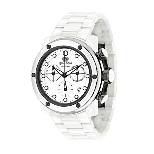 Glam Rock Women's Aquarock 42mm White Ceramic Band & Case Swiss Quartz Analog Watch GR50107F