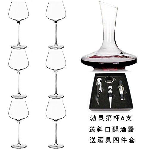 Sblue Große Bordeaux Rotwein Schale Home Set Anleitung Wein bleifreies Kristallglas, 6 pcs,...