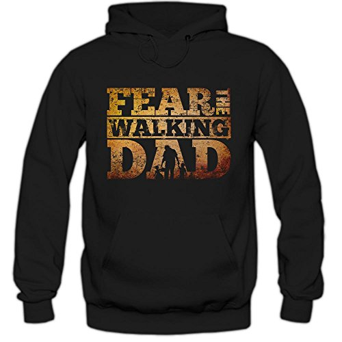 The Walking Dad #2 Felpa Con Cappuccio | Uomo | TWD Hoody | Tv- Series- Fun-Hoody, Farbe:Schwarz (Black F421);Taglia:Large