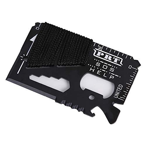 Newin Star 15-in-1 Kreditkarten-Werkzeug und Schlüsselanhänger, Schlankes Design, Minimalistisches Edelstahl, Geldbörse, Kartenhandwerkzeuge, Multi-Tools, 1 Stück